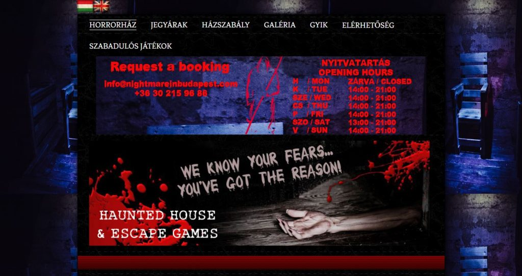Nightmareinbudapest weboldala
